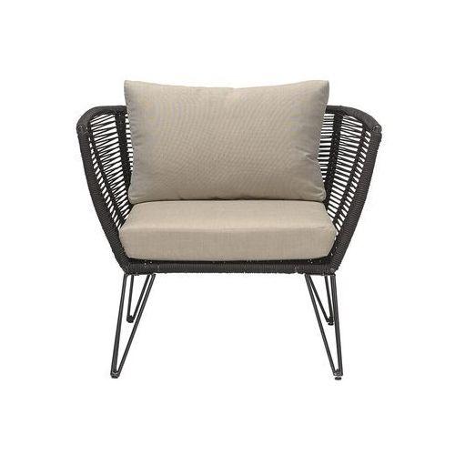 Fotel ogrodowy, czarny, metal - Bloomingville, 50255215