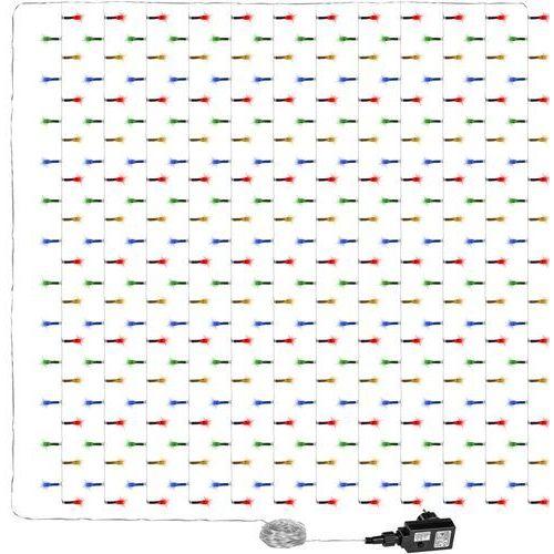 WIELOKOLOROWA KURTYNA ŚWIETLNA ZWISAJĄCE LAMPKI SOPLE 3x3M 300 DIOD