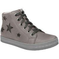 Trzewiki nieocieplane buty 3905 skórzane - multikolor ||popielaty ||szary marki Kornecki
