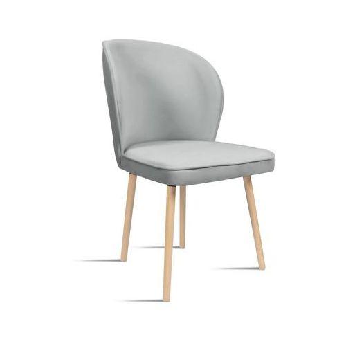 Krzesło rino jasny szary/ noga buk/ ja81 marki B&d