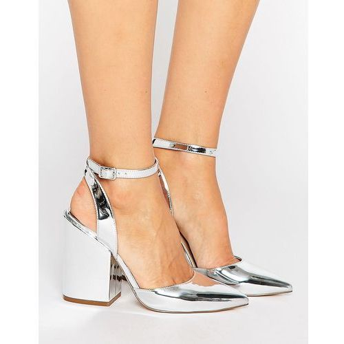 pick n mix pointed heels - silver marki Asos
