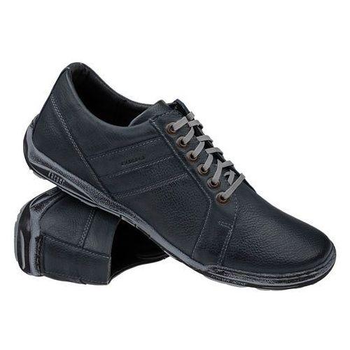 Półbuty buty KACPER 1-4237-409 Granatowe - Granatowy ||Niebieski, kolor niebieski