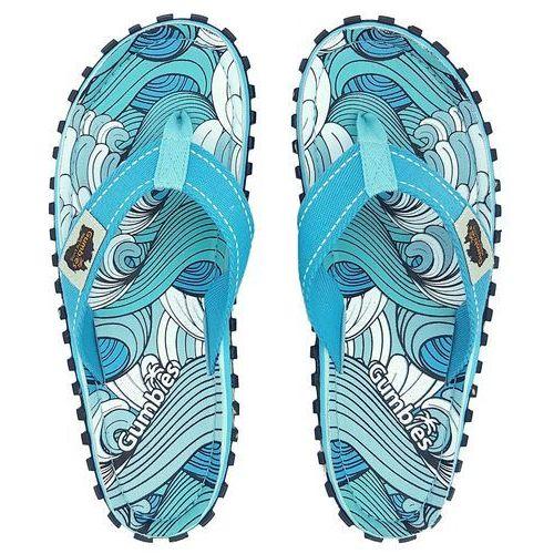 Klapki islander canvas flip - flops women - waves, Gumbies