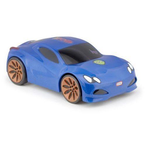 Dotknij i jedź samochód wyścigowy, sportowy niebieski