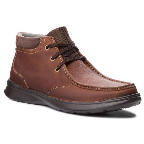 Trzewiki CLARKS - Cotrell Top 261367067 Tobacco Leather