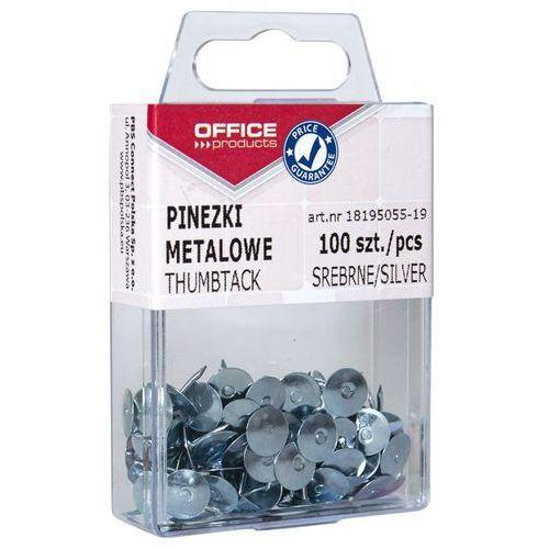 Pinezki metalowe , w pudełku, 100szt., srebrne marki Office products