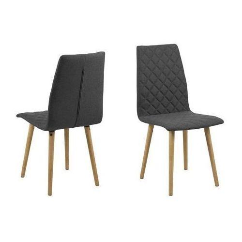 Actona Krzesło abna - szary ciemny (5705994934182)