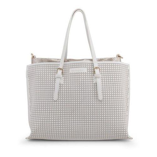 Torebka shopper damska BLU BYBLOS - EASYPERFORATED_680210-39, kolor biały