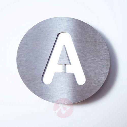 Tabliczka z numerem domu round, st. szl. – a marki Absolut/ radius