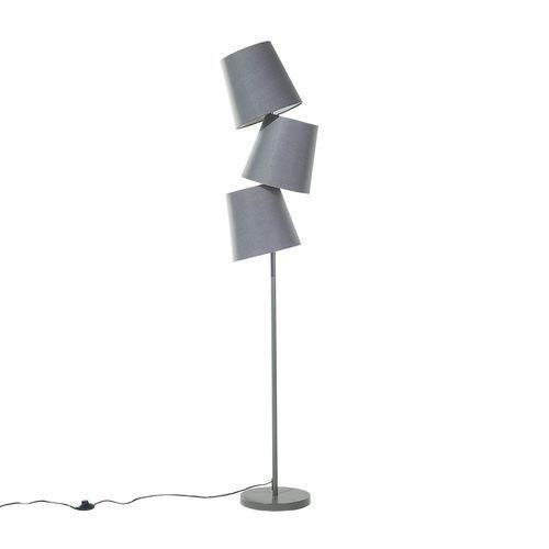 Beliani Lampa stojąca szara - podłogowa - oświetlenie - rio grande