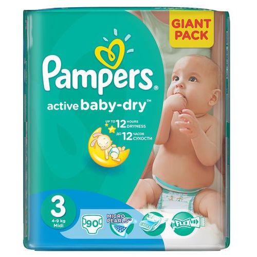 Pampers active baby 3 midi (4-9 kg) giant pack - 90 szt.. Najniższe ceny, najlepsze promocje w sklepach, opinie.