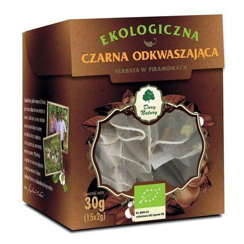 Herbata czarna odkwaszająca piramidki bio (15 x 2 g) - dary natury marki Dary natury - test