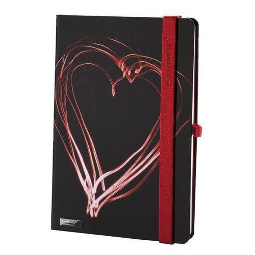 Notes A5 Lanybook Night Light w kratkę czarno-czerwony (8057432197398)
