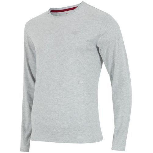 Męska bluza longsleeve h4z17 tsml001 jasny szary melanż xl marki 4f