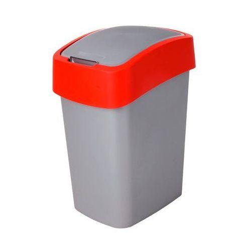 Kosz na śmieci CURVER 02170-547 10 L Szaro-czerwony + Zamów z DOSTAWĄ JUTRO! (3253922170062)