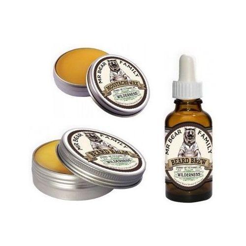 Mr Bear Family Wilderness zestaw do brody i wąsów: wosk, balsam i olejek