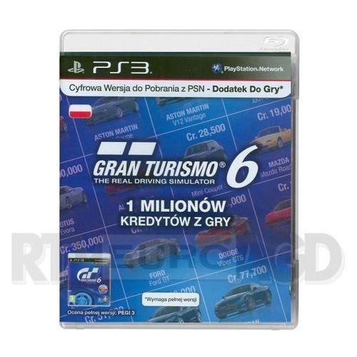 Sony Gran Turismo 6 - 1 milion kredytów - produkt w magazynie - szybka wysyłka!