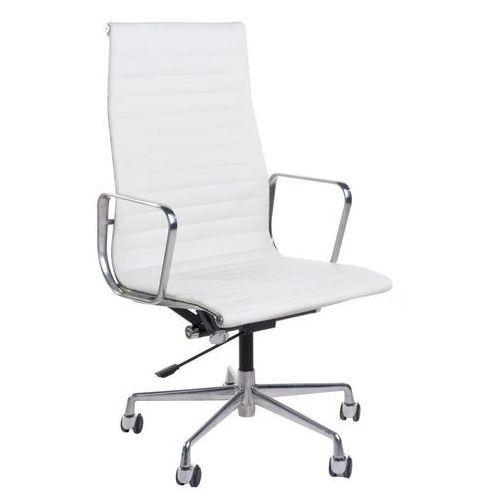 Fotel biurowy CH1191 inspirowany EA119 skóra, chrom - biały, CH-7122Ab