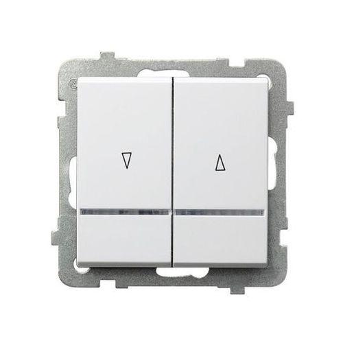 Łącznik żaluzjowy z podświetleniem Biały - ŁP-7RS/m/00 Sonata (5907577444242)