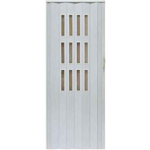 Gockowiak Drzwi harmonijkowe 001s 49 biały dąb mat 80cm