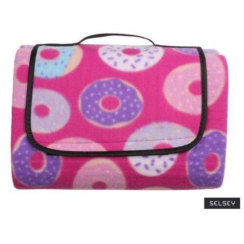 Selsey koc piknikowy marzo 135x175 cm różowy