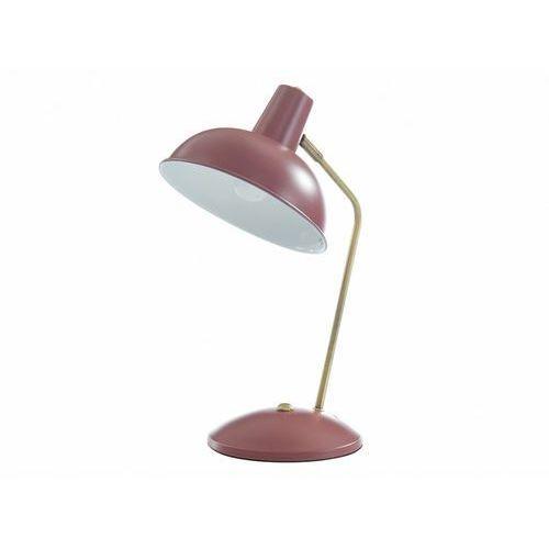 Lampa stojąca HEROLD w stylu vintage – żelazo – 25 × 19,5 × 37,5 cm (dł. × szer. × wys.) – kolor bordowy