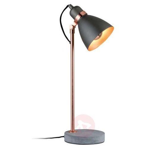 Nowoczesna lampa stołowa orm z betonową podstawą marki Paulmann