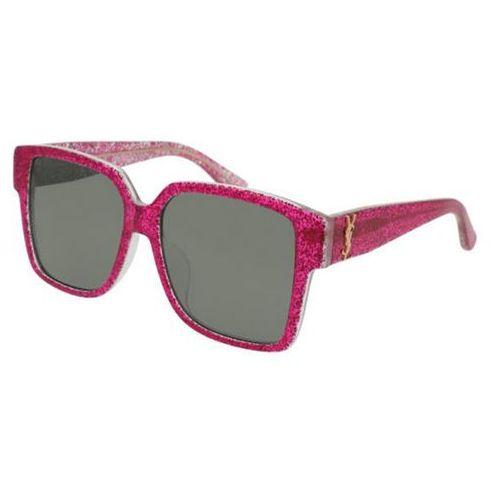 Saint laurent Okulary słoneczne sl m9/f asian fit 005