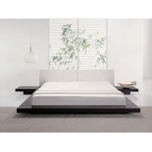 Łóżko ciemnobrązowe 180 x 200 cm zen marki Beliani