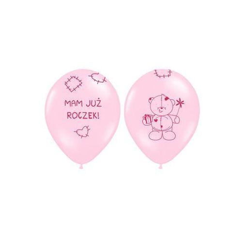 """Party deco Balony z nadrukiem dla dziewczynki """"mam już roczek"""" - 37 cm - 5 szt."""