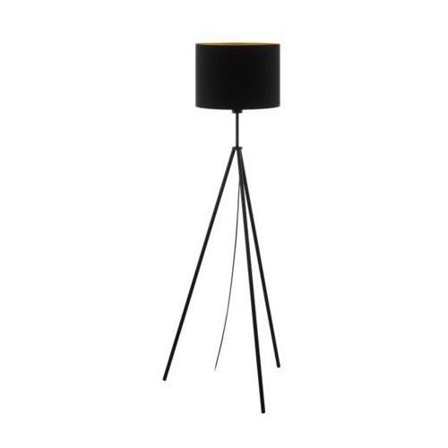 Eglo Scigliati 98391 lampa podłogowa oprawa stojaca 1x60W E27 czarna/złota
