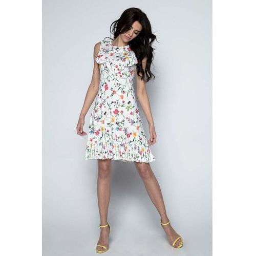 Sukienka w Letnie Kwiaty z Falbankami, 1 rozmiar
