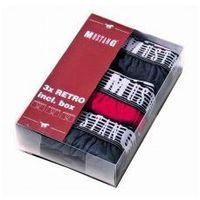 Bokserki męskie Mustang 3-pak 4098-1003 navy/red/navy, kolor niebieski