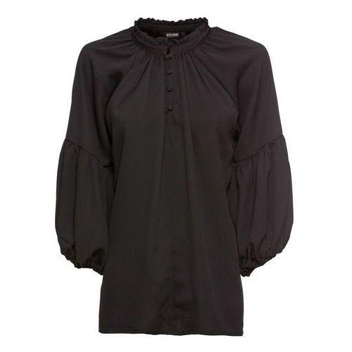 Shirt oliwkowo-czarny z nadrukiem marki Bonprix