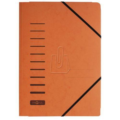 Teczka z preszpanu z gumką Durable A4 1-200 kartek pomarańczowa 2400712