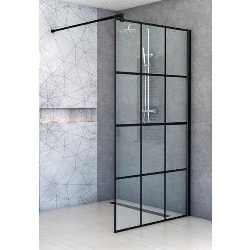 Ścianka prysznicowa 80 cm czarne szprosy BK251T08A6 ✖️AUTORYZOWANY DYSTRYBUTOR✖️