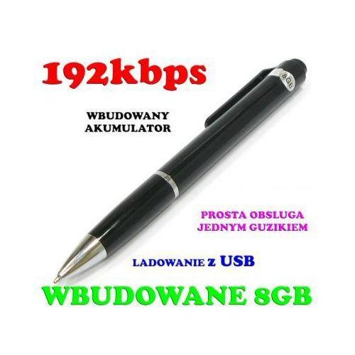 Rejestrator Dźwięku/Podsłuch Nagrywający Ukryty w Długopisie (poj. 8GB/140h.)., 590777353623