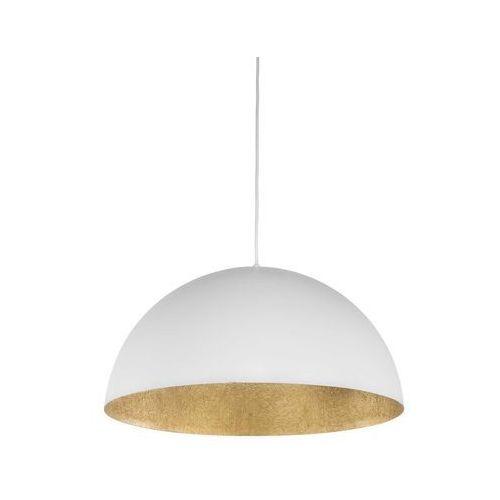 Lampa oprawa wisząca metalowa kopuła Spot Light Tuba 1x60W E27 biały/złoty 1030133, 1030133