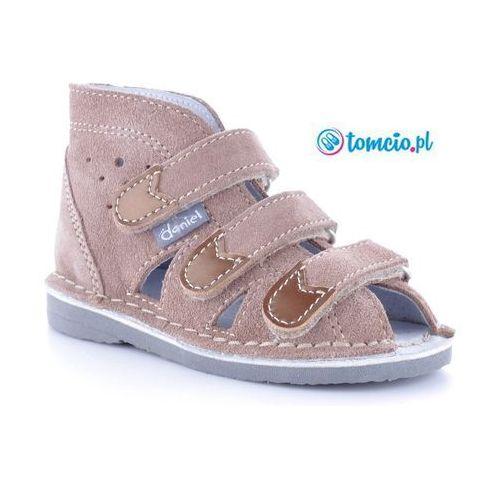 Danielki buty na rzepy profilktyczne beżowe - wzór s104/ s114