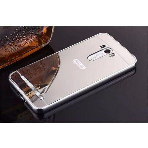 Mirror Bumper Metal Case Srebrny   Etui dla Asus ZenFone 2 Laser 5.0 - Srebrny, kolor szary