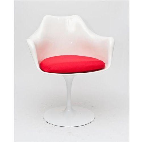 Krzesło TulAr inspirowane Tulip Armchair - czerwony ||biały (5902385701952)