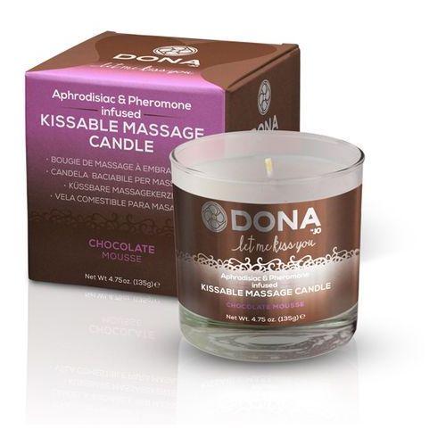 Sexshop - świeca do masażu - azjatycki i lomi lomi - kissable massage candle czekoladowa - online marki Dona