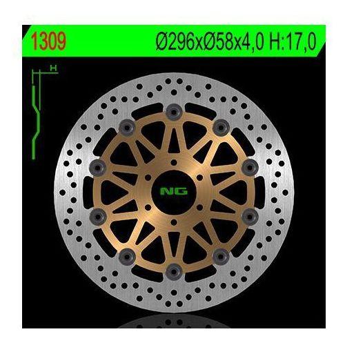 NG1309 TARCZA HAMULCOWA HONDA VTR 250F 98-08, 12-13 (296X58X4) PŁYWAJĄCA