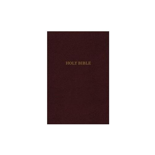 KJV, Thinline Reference Bible, Leather-Look, Burgundy, Red Letter Edition, Comfort Print