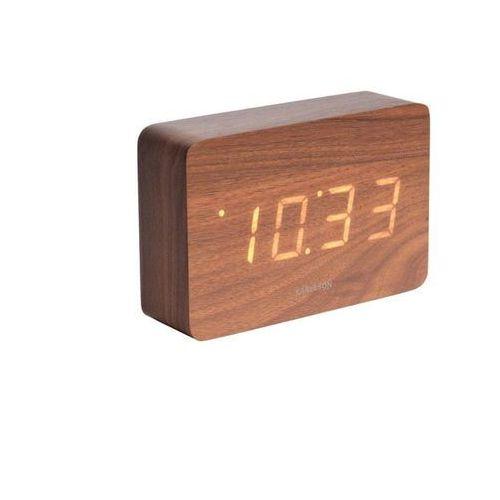 Karlsson Square Dark Wood Alarm Clock
