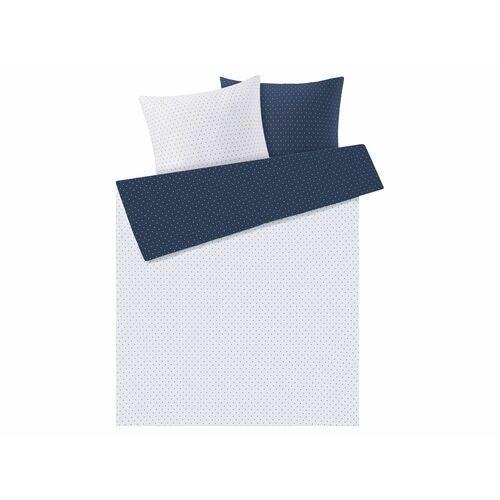 MERADISO® Pościel satynowa 220 x 200 cm, 1 komplet (Kropki/małe)