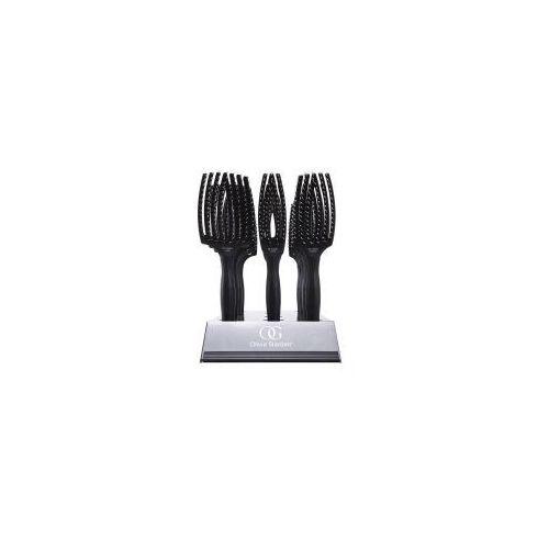 Olivia Garden Finger Brush, zestaw szczotek, włosie dzika, display 12 szt z kategorii Akcesoria fryzjerskie