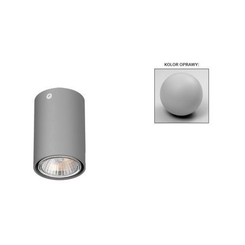 Cleoni Lampa sufitowa spot tuba pixo y4sd led 1x3w,4w,5w,7w gu10 srebrny mat t068y4sd101