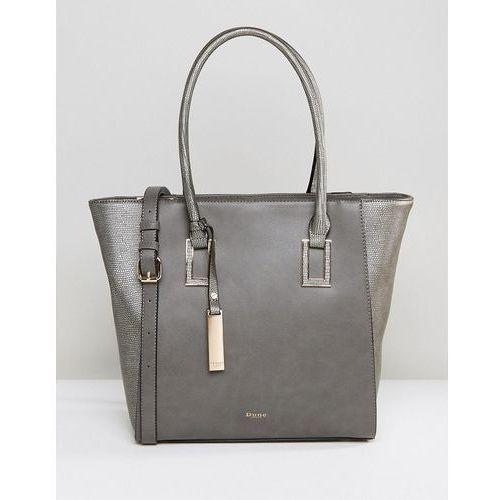 damazing grey pewter structured tote bag - grey marki Dune