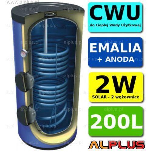 Wymiennik LEMET 200L 2 wężownice 2W +ANODA solarny Bojler Zbiornik Ogrzewacz CWU WYSYŁKA GRATIS, 20.200SE